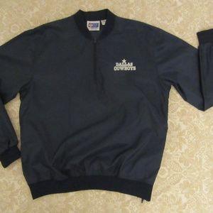 vntg nfl starter dallas cowboys 1/4 zip pullover